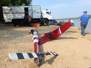 Поисковая операция на месте авиакатастрофы