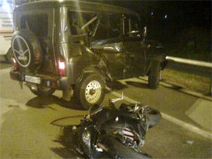 Зеленоградец и его спутница разбились на мотоцикле под Клином