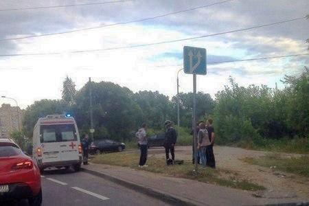 В ДТП на улице Радио пострадал мотоциклист