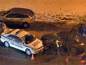 Пьяный спасатель протаранил машину ДПС во время погони