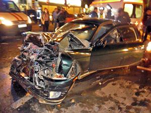 В ДТП на улице Андреевке пострадали три человека