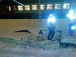 На станции Крюково вновь обрушилась платформа