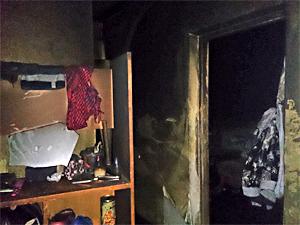 Пострадавший на пожаре ребенок находился в квартире без присмотра
