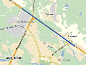 Ленинградку у Зеленограда расширят до восьми полос