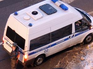 Полицейский фургон перевернулся на Кутузовском шоссе