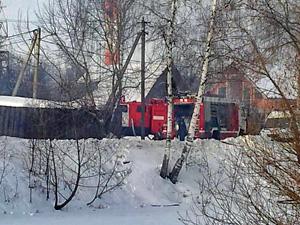 В Малино сгорел частный дом