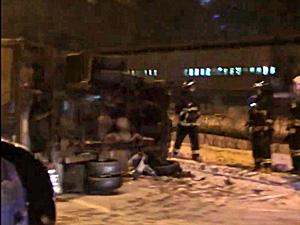 На Алабушевской улице водитель фургона разбился о столб