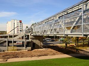 Пешеходный мост у префектуры откроют 15 ноября