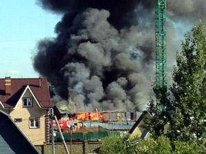 В Андреевке загорелась стройплощадка