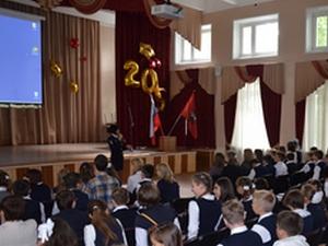 Встреча инспектора ГИБДД с учащимися школы № 618
