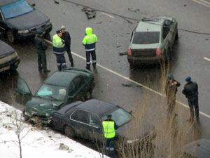 Автоавария на улице Логвиненко