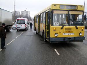 Пьяного пешехода сбил автобус