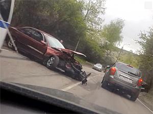 В аварии на Фирсановском шоссе пострадала автомобилистка
