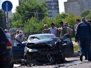 На Солнечной аллее разбились три машины