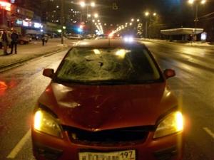 Иномарка насмерть сбила пешехода