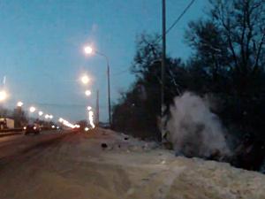 Автомобилист разбился о столб у деревни Чашниково