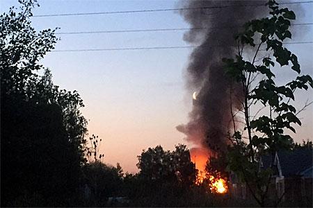 На пожаре в Малино погибла женщина