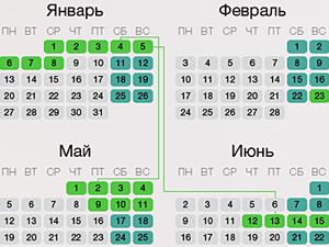 Календарь праздников на 2014 год