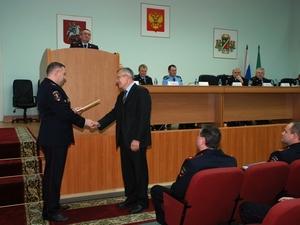 Глава УВД поблагодарил сотрудников ЧОПов