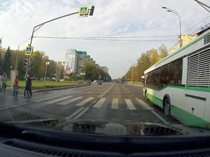 На автобусе на красный