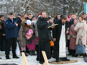 Водосвятный молебен на Черном озере