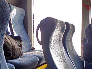 Автокран разбил окно автобуса №400 на Ленинградке