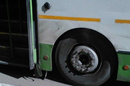 У 400-го автобуса загорелось колесо на Ленинградском шоссе