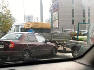 В аварии с тремя машинами у «Иридиума» пострадала пассажирка