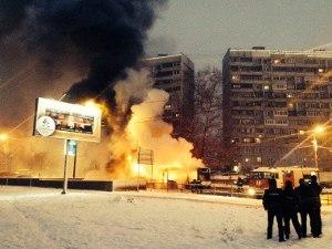 На Панфиловском проспекте сгорел пассажирский автобус