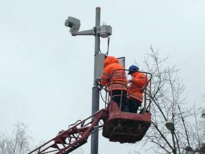 На перекрестках начали устанавливать камеры наблюдения