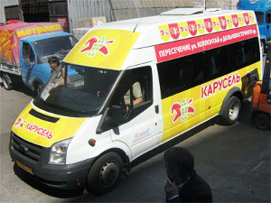 Рекламу на маршрутках теперь размещает «Манго»