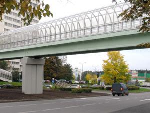 На Сосновой аллее открылся пешеходный мост