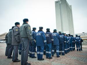 Осенний смотр полиции