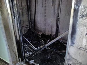 В доме на улице Логвиненко сгорел лифт