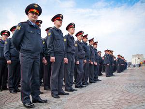 Весенний смотр полиции