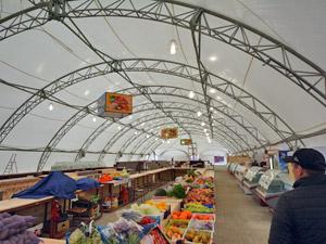 В шатре у станции Крюково заработал сельхозрынок