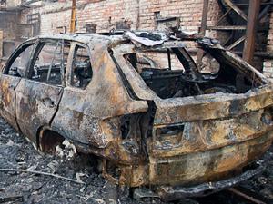 С начала мая сгорели еще две машины