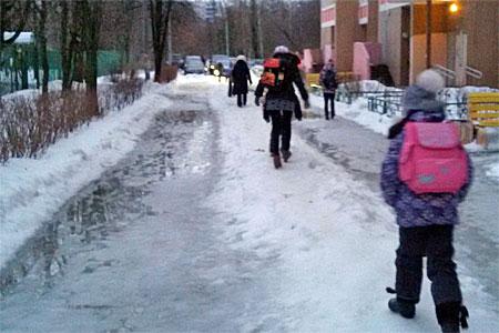 Пять человек пострадали из-за гололеда в Зеленограде