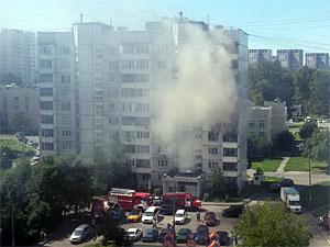 Во 2-м микрорайоне сгорела квартира